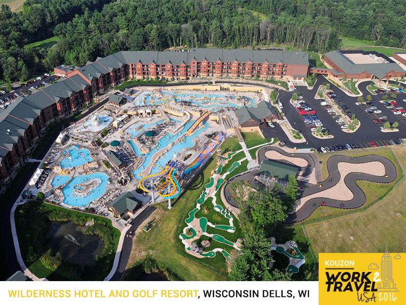 Wilderness hotel and golf resort kouzon work and travel usa for Dells wilderness cabin